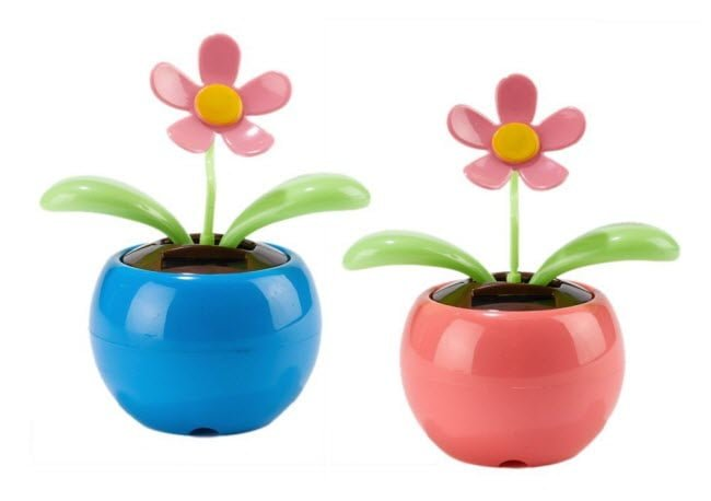 Bee Happy Dancing Solar Flower, Set of 2 – Two's Company